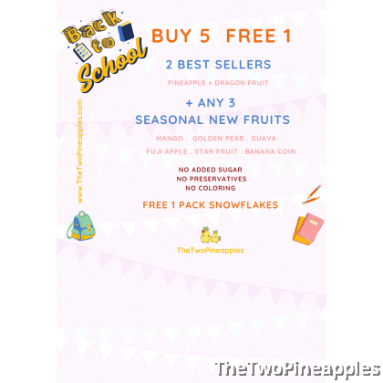 [Back To School Promo - Buy 5 Free 1 Bundle] Children Daily Snack Pack (fruit based)